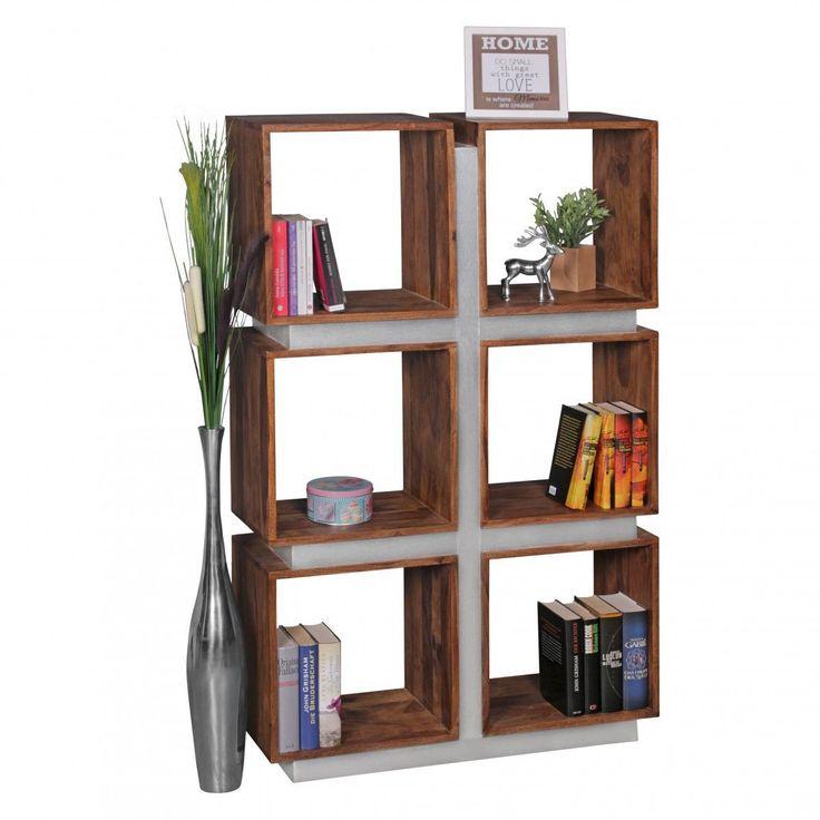 WOHNLING Bücherregal Massivholz Sheesham 135 x 85 x 30 cm Design Raumteiler hohes Regal Holz Landhau Jetzt bestellen unter: https://moebel.ladendirekt.de/wohnzimmer/regale/buecherregale/?uid=ee0b7ffd-f1fe-5632-8606-f17ff853d46f&utm_source=pinterest&utm_medium=pin&utm_campaign=boards #möbel #wohnwände #einrichtung #buecherregale #wohnzimmer #regale