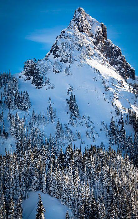 Pinnacle Peak, Mt. Rainier, Washington; photo by Inge Johnsson