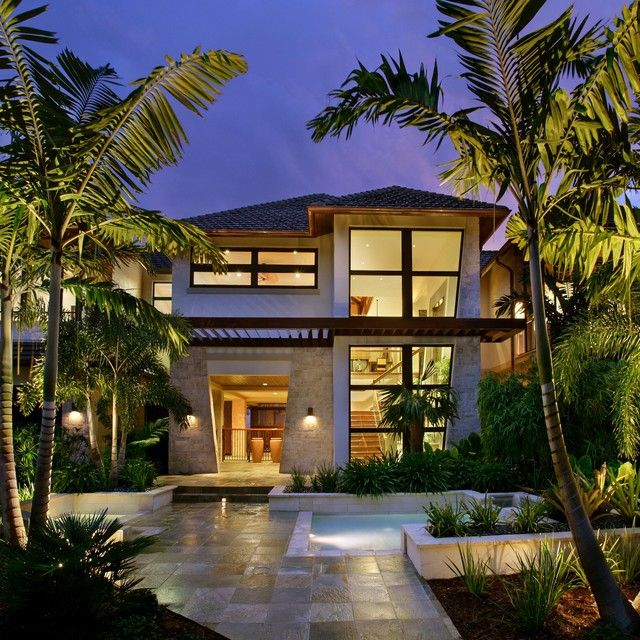 Good Maybe For The Back, Not The Entryway. Captiva House   Tropical   Exterior    Other Metro   By Design Group, Inc.