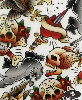 New arrival scary skull pattern hydro water transfer printing hydrographics film,50cm wide,hydro dipping HYA-765