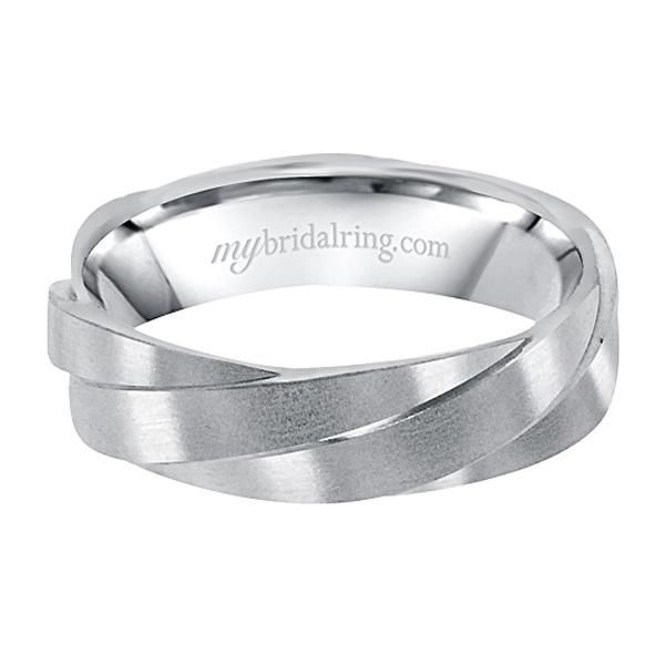 Modern Mens Design of White Gold Wedding Bands and Innovative Engagement band at MyBridalRing - http://www.mybridalring.com/Mens/unique-design-engagement-ring-in-14k-white-gold/