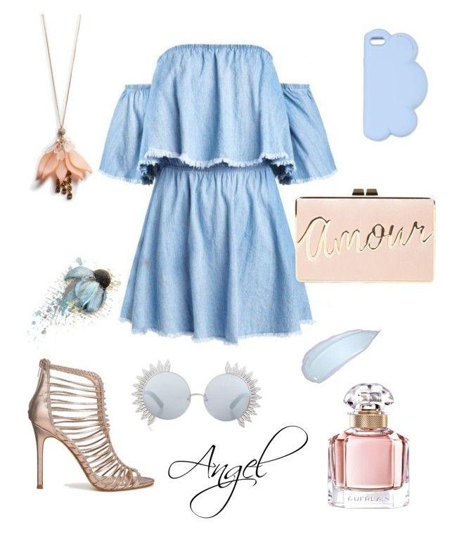 #Blue by angel1324 on Polyvore featuring polyvore, fashion, style, Miss Selfridge, BCBGMAXAZRIA, Ann Taylor, STELLA McCARTNEY, Linda Farrow, Guerlain and clothing