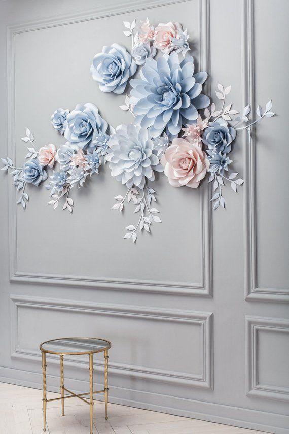 Hochzeit Papier Blume Hintergrund – Alternative Papier Blumenbogen – Hochzeit Empfang Dekor