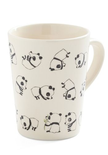 Rolly Polly Panda Mug. I love the dizzy eyes on the one panda in the lower right corner, hehe!