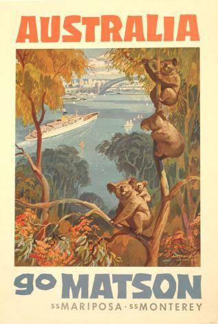 #Vintage Australian Cruise poster http://southerncrosscruises.com.au/#AustraliaDayOnboard