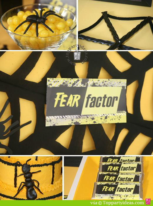 Fear Factor Party - Spiderweb and bugs