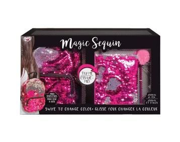 Magic Sequin Super Set in Pink Mini Backpack, Journal and Pen