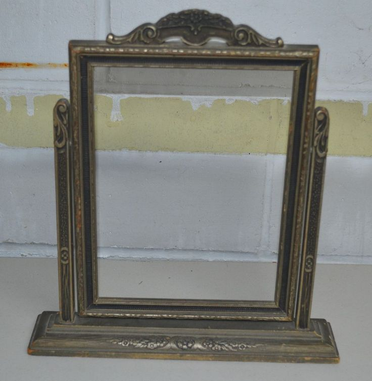 Vintage Antique Wooden Swivel Picture Frame Stand 8x10