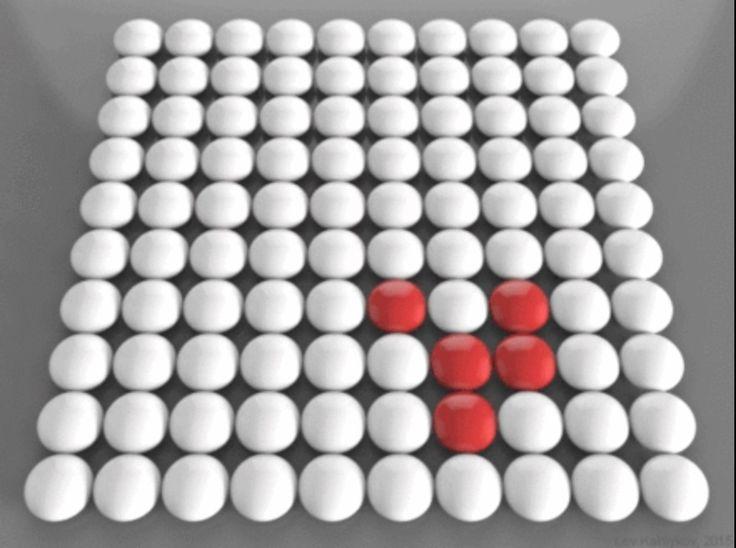 Логика сознания. Часть 1. Волны в клеточном автомате    Начнем разговор о мозге с несколько отвлеченной темы. Поговорим о клеточных автоматах. Клеточный автомат – это дискретная модель, которая описывает регулярную решетку ячеек, возможные состояния ячеек и правила изменений этих состояний. Каждая из ячеек может принимать конечное множество состояний, например, 0 и 1. Для каждой из ячеек определяется окрестность, задающая ее соседей. Состояние соседей и собственное состояние ячейки…
