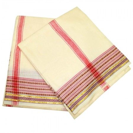 VedicVaani.com proudly present Dhotis and Shawls,Angavastram. Shop dhotis, shawls, angavastram in cotton, silk for puja rituals and religious ceremonies