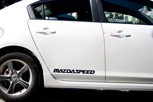 2 MAZDASPEED 3 5 6 RX7 RX8 Mazda Racing Decal sticker emblem logo RED