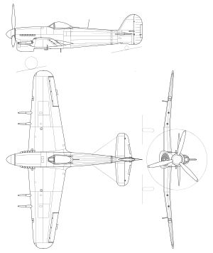 Hawker Typhoon orthographic