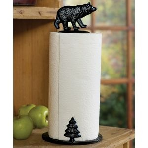 Bear Paper Towel Holder Goes With My Theme Rustic Small Kitchen Decor