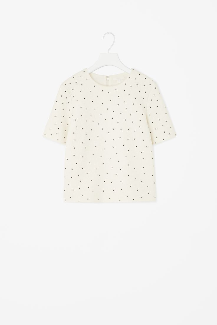 Dotted wool top