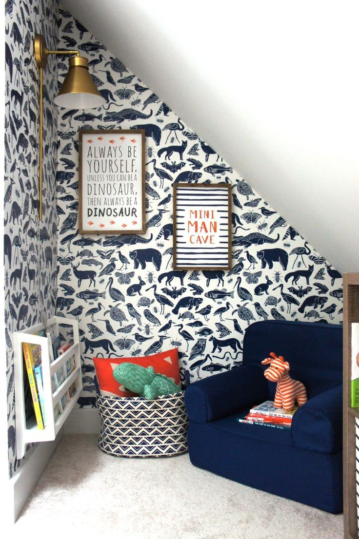Kids Reading Nook With Removable Wallpaper Kid Room Decor