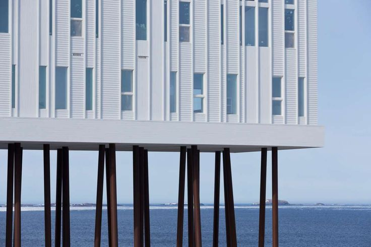 The inn is completely tied to Fogo Island and traditional Newfoundland outport architecture by the way it sits in the landscape and the materials used throughout.