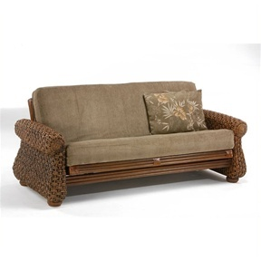 Rattan Iris Futon FrameThis Rattan Iris Futon Frame possesses a modern design with a tropical twist. Perfect for providing excellent comfort while adding functionality, it will give your decor an exotic touch.