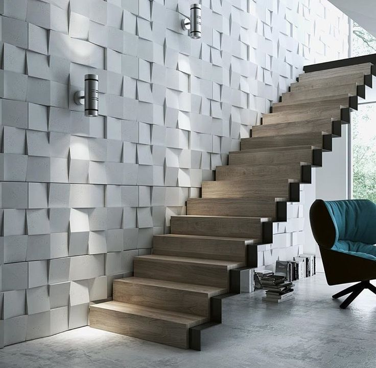 Staircase concrete wall