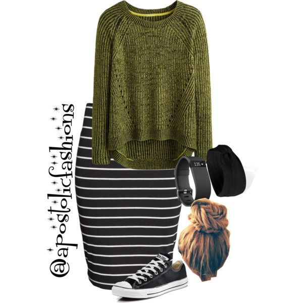 Apostolic Fashions #1844 by apostolicfashions on Polyvore featuring H&M, Converse and Forever 21