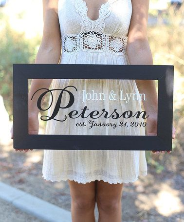 Another great find on #zulily! Personalized Newlywed Sign #zulilyfinds