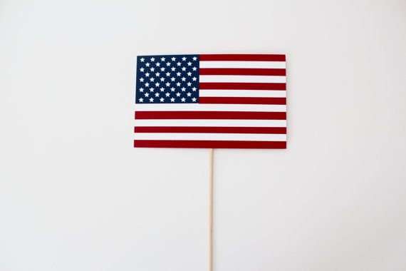 American Flag Photo Booth Prop  USA Photobooth by PAPERandPANCAKES