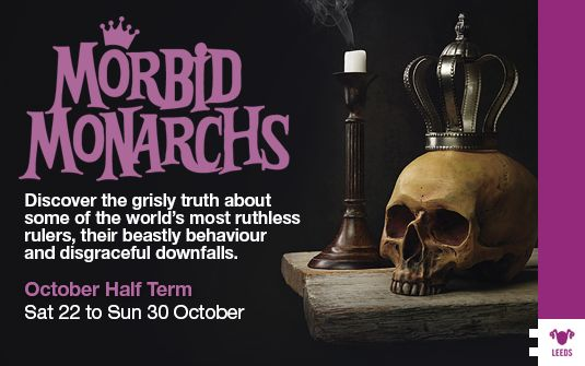 Saturday 22 - Sunday 30 Oct 2016 - The Royal Armouries have a full week of terrible tales and horrid stories in honour of Halloween. Get involved with this theme week in Leeds, suitable for all the family!