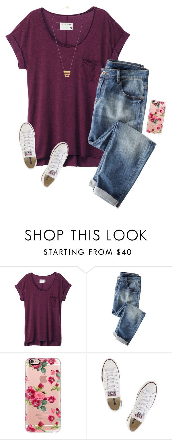 """We get to go to a play today at school!☺️"" by savanahe ❤ liked on Polyvore featuring rag & bone, Wrap, Casetify, Converse and Gorjana"