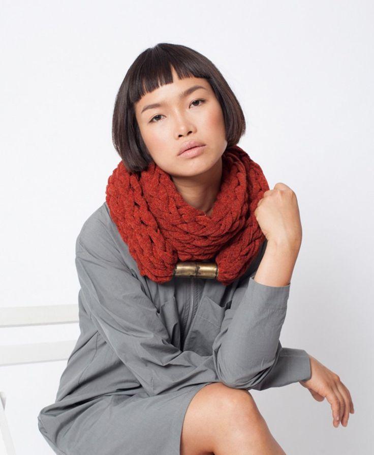 From IAMTHELAB.com: Komo / Brick Color Infinity Jewelry Scarf   #Necklace #Neckwear