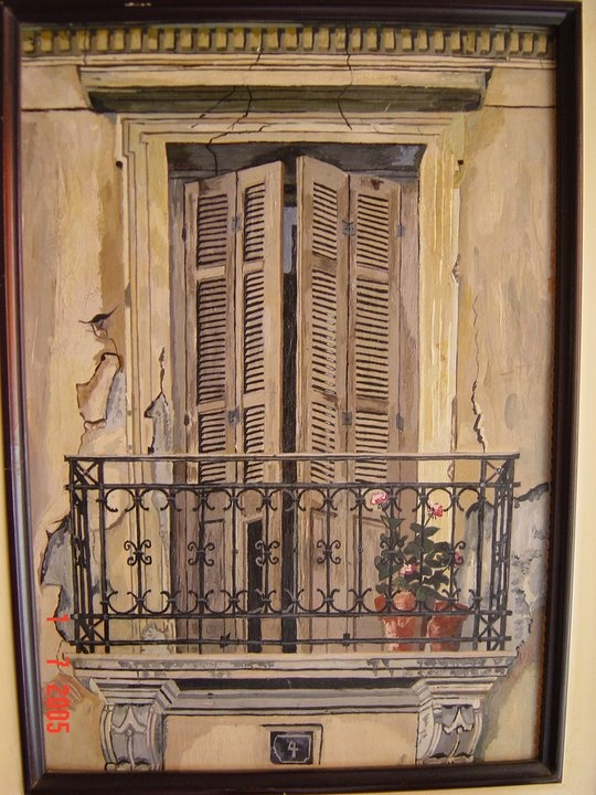 An old balcony in Greece that i've painted years ago...Maybe it doesn't exist anymore...