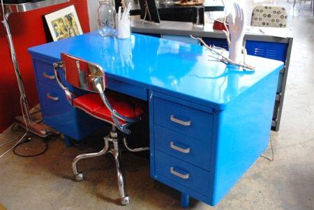 Blue Tanker Desk