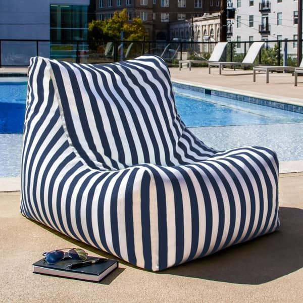 The Ponce Outdoor Patio Bean Bag Chair is the combination of comfy bean bag and a luxurious patio chair. Say goodbye to uncomfortable hard wood or metal outdoor chairs because the EPS bead filling ins Bean Bag Lounge Chair, Outdoor Bean Bag Chair, Bean Bag Lounger, Metal Outdoor Chairs, Patio Lounge Chairs, Outdoor Furniture, Dining Chairs, Outdoor Pool, Outdoor Spaces