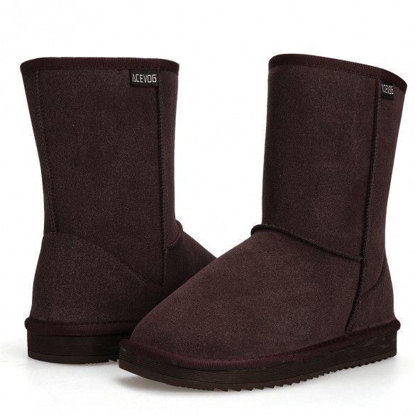 Fashion Women Casual Winter Warm Faux Fur Snow Ankle Boots Flats