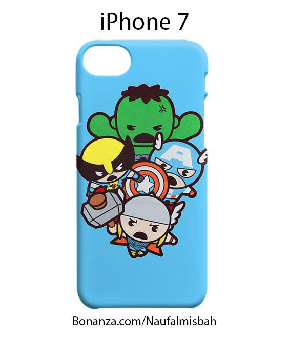Cute Kawaii Thor Hulk Wolverine Marvel iPhone 7 Case Cover Wrap Around