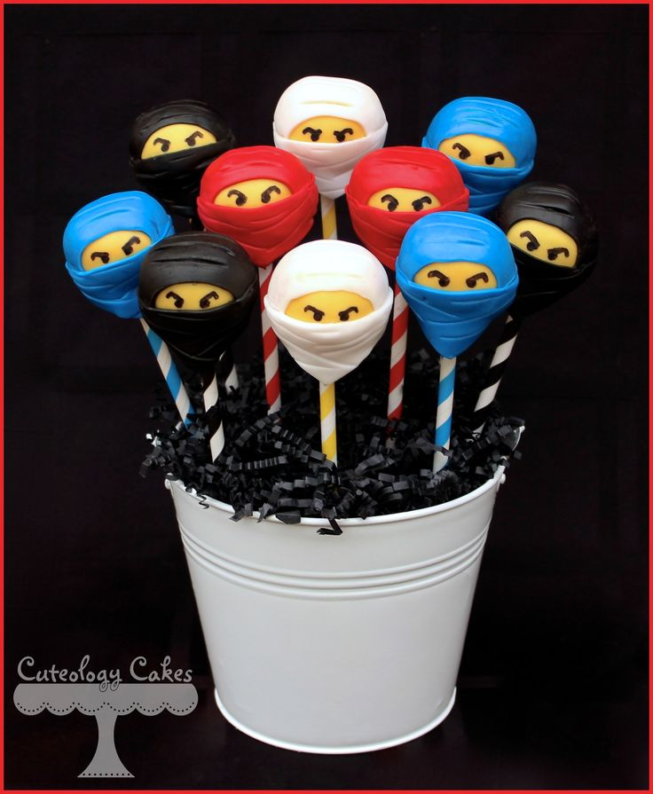 Ninjago Cake Pops www.facebook.com/i.love.cuteology.cakes