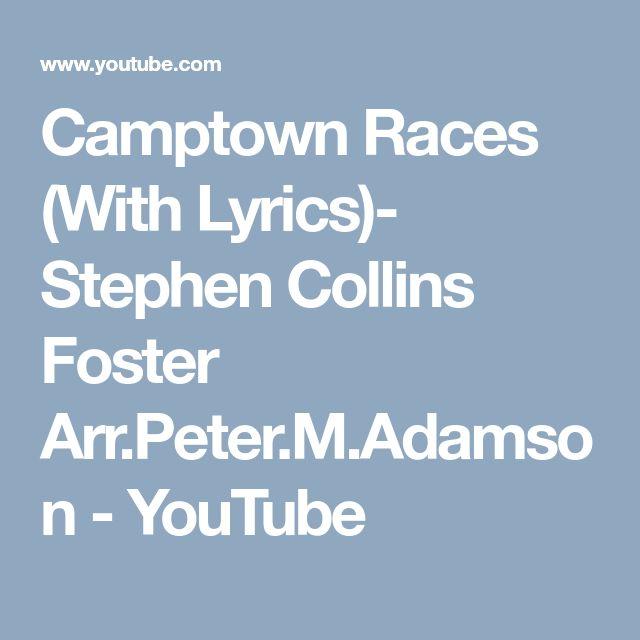 Camptown Races (With Lyrics)- Stephen Collins Foster Arr.Peter.M.Adamson - YouTube