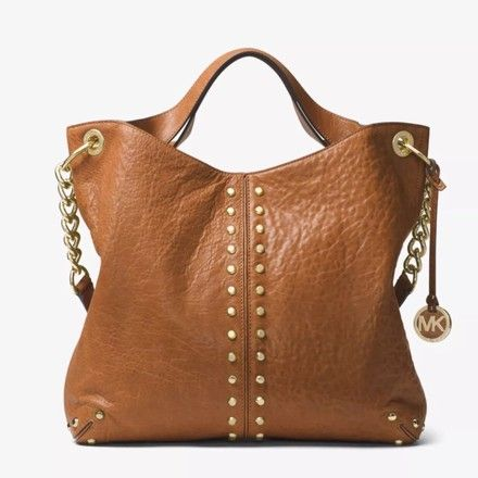48aabd7064a8 Michael Kors Uptown Astor Large Studded Walnut Leather Shoulder Bag -  Tradesy