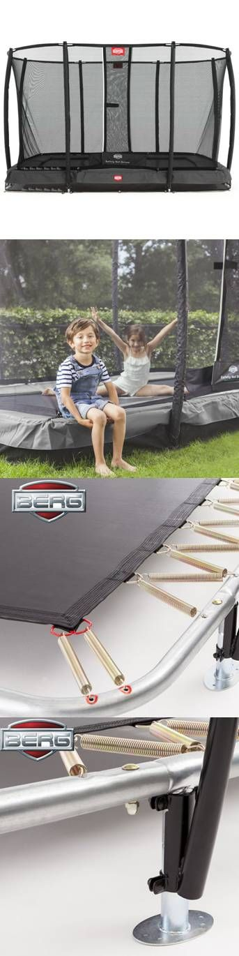 a performing trampoline for both kids and adults bergu0027s eazy fit 11ft x 7ft