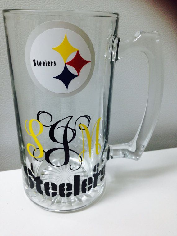 Monogrammed Pittsburgh Steelers Mug by CountryCraftsnMore on Etsy