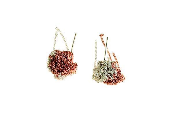 Arielle de Pinto - Pre Spring 2014 - 2 Tone Bead Earring