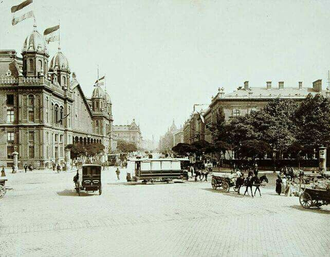 A Nyugati pályaudvar 1896-ban.