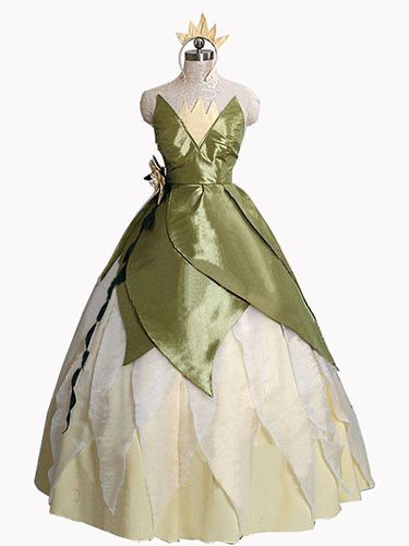 Princess Tiana Costume Disney The Princess And The Frog Cosplay Women's Birthday Party Dress Custom-made