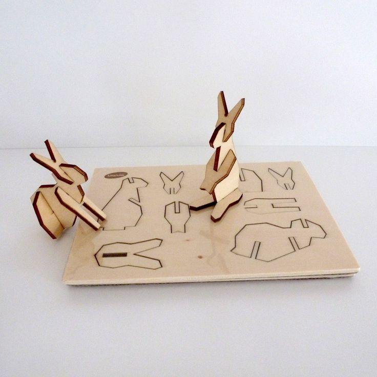Houten puzzel - konijn - Presentatie - DIY producten