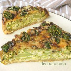 Esta receta de quiche de brócoli y queso azul se puede preparar también con cualquier otro queso a tu gusto, quesos suaves o más fuertes.