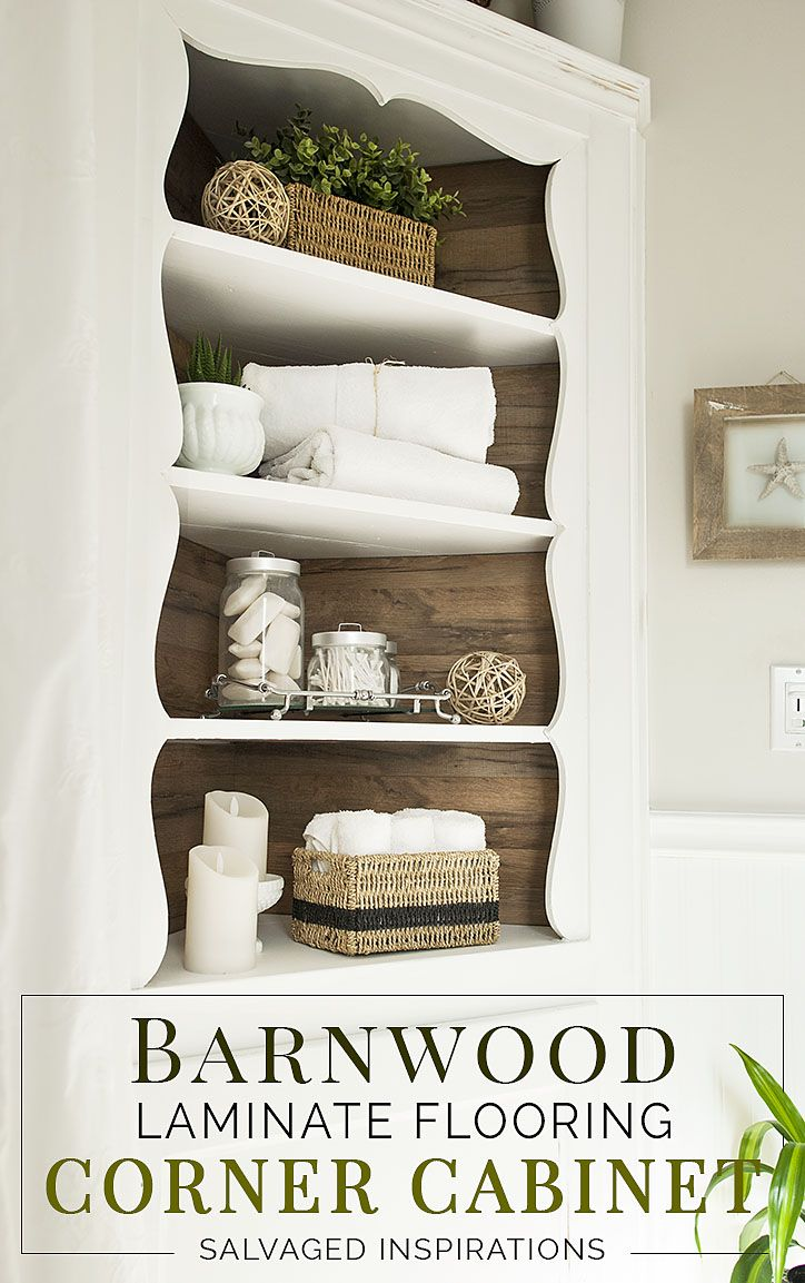 Tall corner cabinet with lowes barnwood home decor pinterest