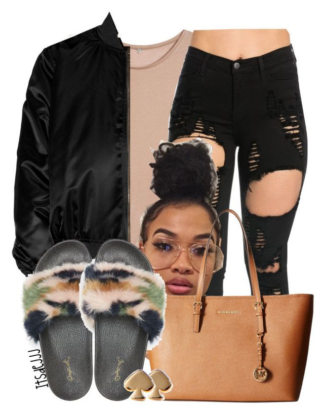 """""""Ace of Spades♠️✨"""" by itsdejjj ❤ liked on Polyvore featuring Base Range, Givenchy, Qupid, MICHAEL Michael Kors and Kate Spade"""