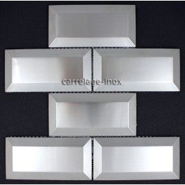 carrelage inox 1 m2 mosaique acier credence faience METRO