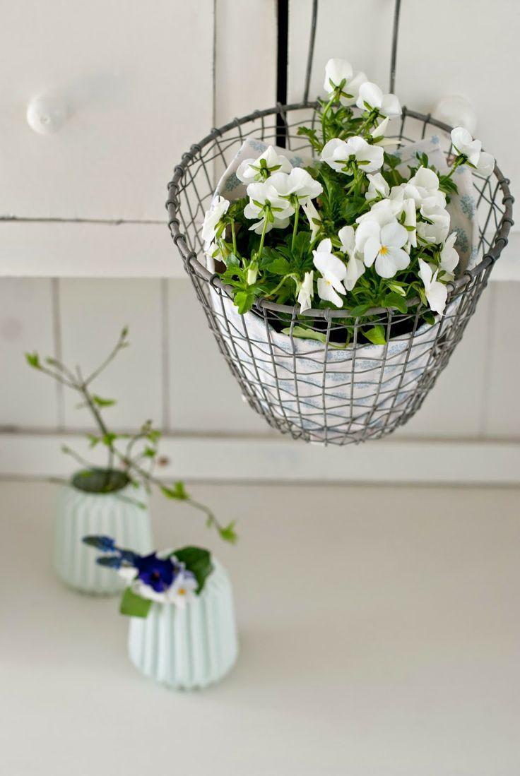 Minty House spring time, minty mint, Ib Laursen, flower in basket