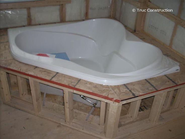 Raccordement d 39 un bain podium salle de bain pinterest - Construire niche salle de bain ...
