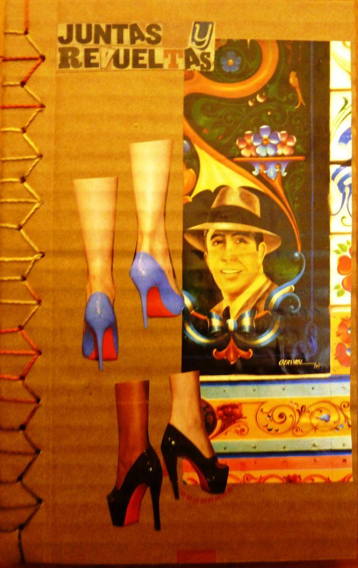 Poemario Juntas y Revueltas   Libros Cartoneros   La Joyita Cartonera   handmade books   cardboard   poetry   by Eli Cárdenas