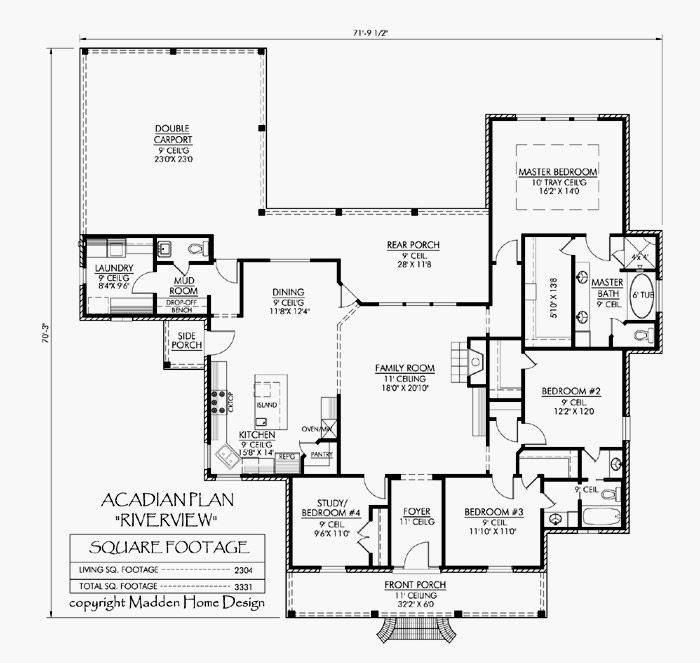 Like the layout of carport entrance with mudroom replace for House plans with separate office entrance